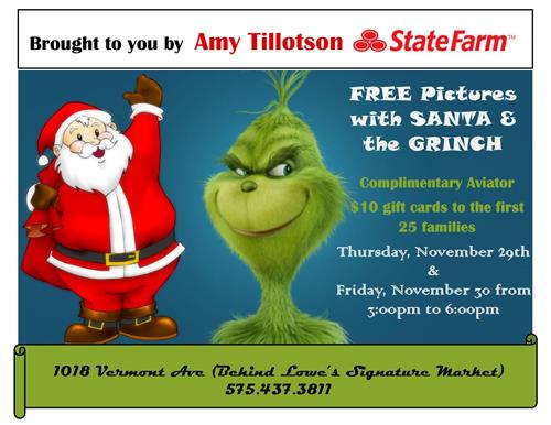 FREE PICTURES With Santa & The Grinch