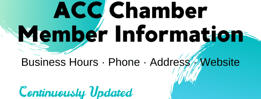 Updated Chamber Member Business Information