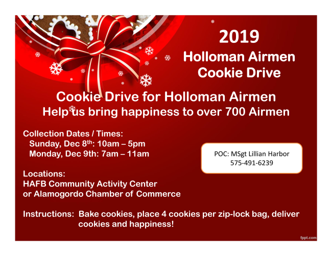Cookie Drive for Holloman Airmen